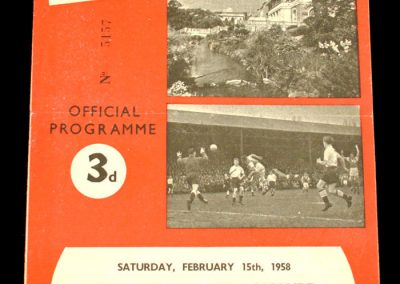 Bournemouth and Boscombe Athletic v Southampton 15.02.1958