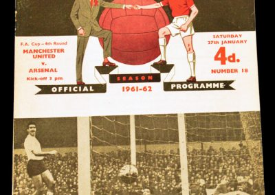 Arsenal v Manchester United 27.01.1962 | Postponed to 31.01 | FA Cup 4th Round