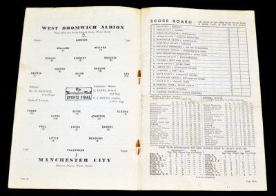 Manchester City v West Bromwich Albion 11.04.1955