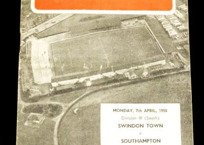 Swindon Town v Southampton 07.04.1958