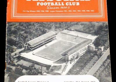 Arsenal v Newcastle United 21.08.1954