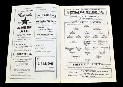 Sheffield United v Newcastle United 28.08.1954