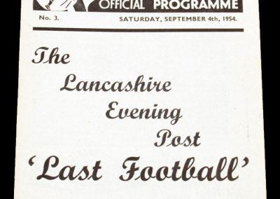 Preston North End v Newcsatle United 04.09.1954