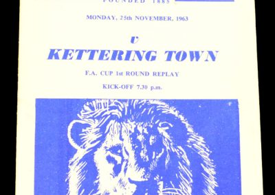 Millwall FC v Kettering Town 25.11.1963 | FA Cup 1st Round Replay