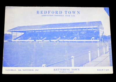 Bedford Town v Kettering Town 30.11.1963