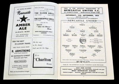 Burnley FC v Newcastle United 11.09.1954
