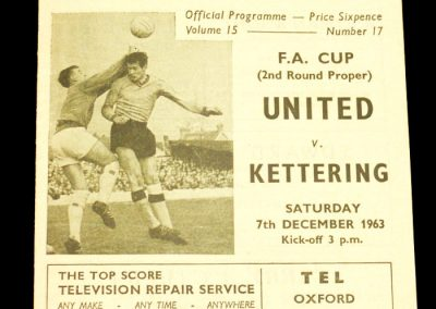Oxford United v Kettering 07.12.1963 | FA Cup 2nd Round