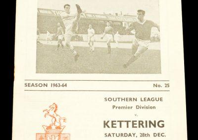 Bexley United v Kettering 28.12.1963