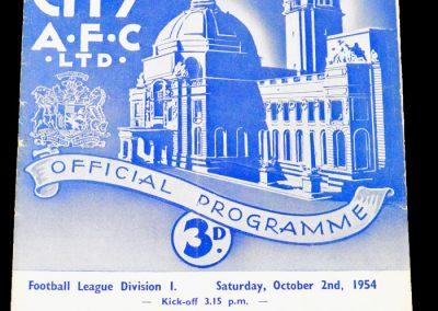 Cardiff City v Newcastle United 02.10.1954