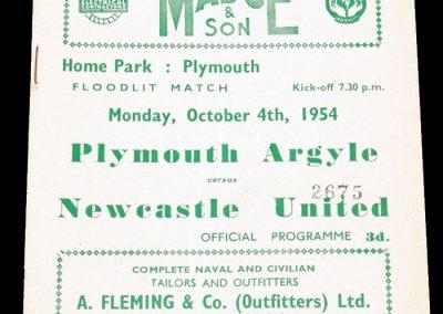 Plymouth Argyle v Newcastle United 04.10.1954