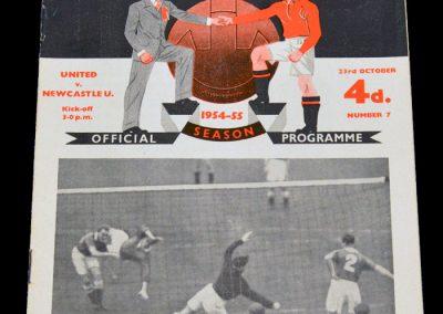 Manchester United v Newcastle United 23.10.1954