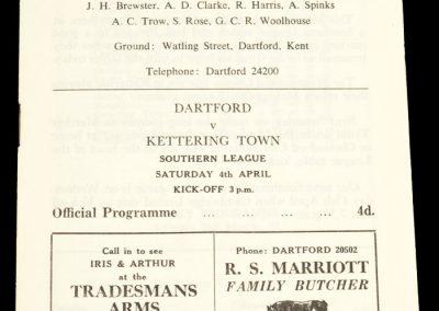 Dartford FC v Kettering Town 04.04.1964