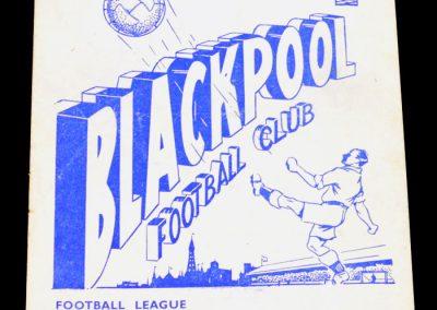 Blackpool FC v Newcastle United 06.11.1954
