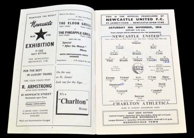 Charlton Athletic v Newcastle United 13.11.1954