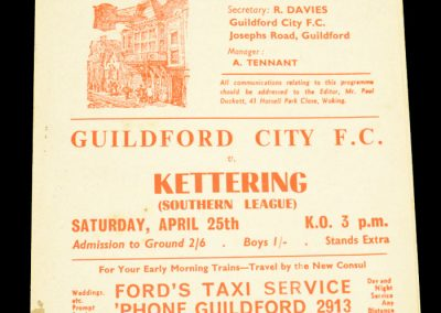 Guildford City v Kettering 25.04.1964