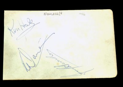 Newcastle Team Player Autographs 1956