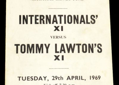 International's XI v Tommy Lawton's XI 29.04.1969