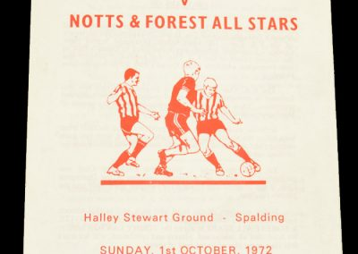 Old Doningtonians v Notts & Forest All Stars 01.10.1972