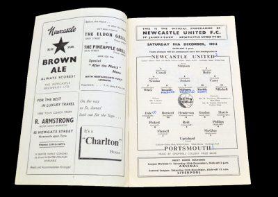 Portsmouth v Newcastle United 11.12.1954