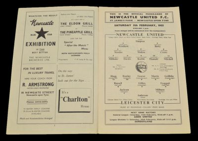 Leicester City v Newcastle United 05.02.1955