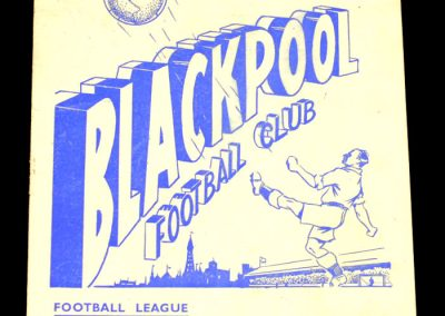 Blackpool v Everton 27.08.1956