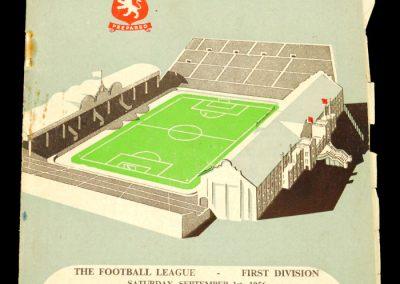Aston Villa v Blackpool 01.09.1956