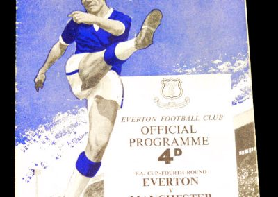 Everton FC v Manchester City 27.01.1962 | FA Cup 4th Round
