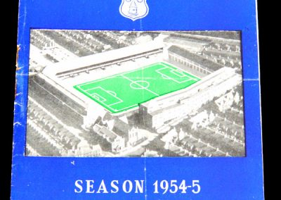 Everton FC v Newcastle United 08.04.1955