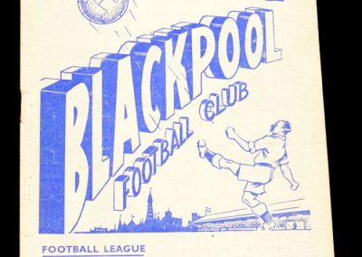 Manchester United v Blackpool 27.10.1956