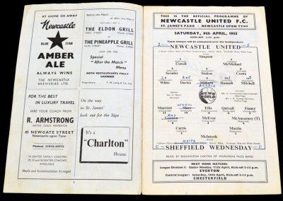 Sheffield Wednesday v Newcastle United 09.04.1955