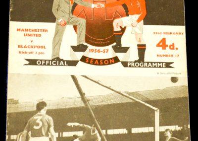 Manchester United v Blackpool 23.02.1957
