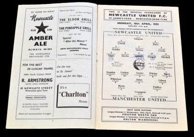 Manchester United v Newcastle United 18.04.1955