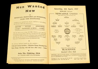 Newcastle United v Blackpool 06.04.1957