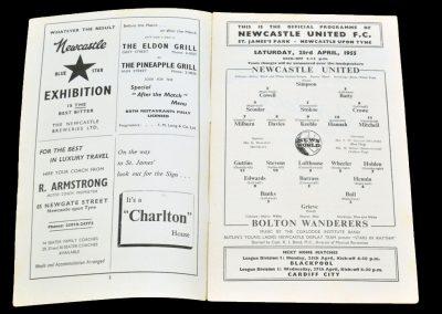 Bolton Wanderers v Newcastle United 23.04.1955