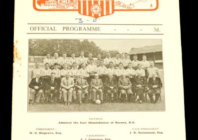 Southampton FC v Bournemouth and Bosecombe Athletic 18.08.1956