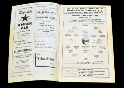 Blackpool v Newcastle United 25.04.1955