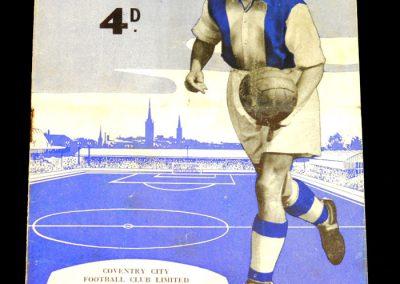 Coventry City v Southampton 20.08.1956