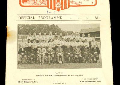 Southampton v Coventry City 29.08.1956
