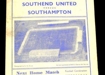 Southend United FC v Southampton 08.09.1956