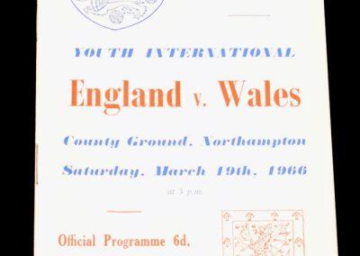 England v Wales 19.03.1966 | Youth International