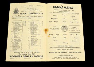 Southampton v Northampton Town 15.09.1956