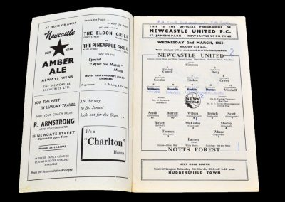 Nottingham Forest v Newcastle United 02.03.1955 | FA Cup 5th round 2nd Replay