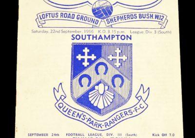 Queens Park Rangers v Southampton 22.09.1956
