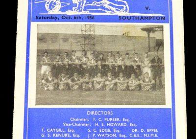 Millwall v Southampton 06.10.1956