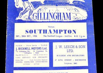 Gillingham v Southampton 20.10.1956