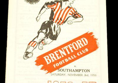 Brentford v Southampton 03.11.1956