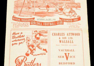 Walsall v Southampton 01.12.1956