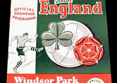 Ireland v England 02.10.1954