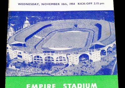 England v Wales 10.11.1954