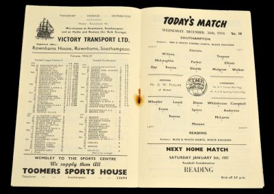 Southampton v Reading 26.12.1956